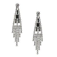 Mood - Diamante crystal slinky chandelier earring