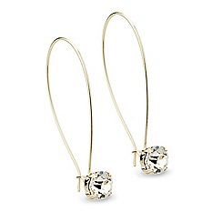 Mood - Long fish hook crystal drop earring