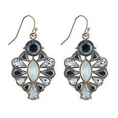 Mood - Oval pearl and navette stone drop earring