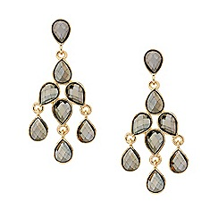 Mood - Hematite teardrop chandelier earring