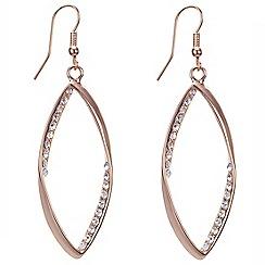 Mood - Diamante encased teardrop surround earring