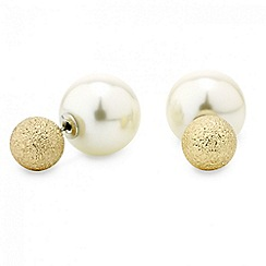 Mood - Pearl and textured ball double ended earring