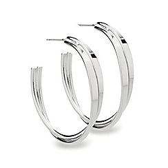 Mood - Polished cross over hoop earring