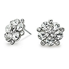 Mood - Crystal flower stud earring