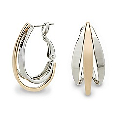 Mood - Two tone mini intertwined hoop earring