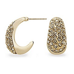 Mood - Crystal embellished mini gold hoop earring