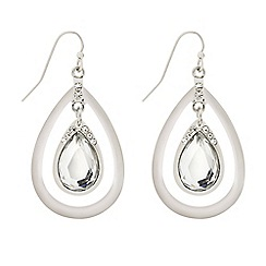 Mood - Polished crystal teardrop earring