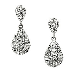 Mood - Crystal embellished teardrop earring