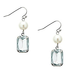 Mood - Pearl and rectangular drop earring