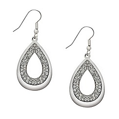 Mood - Crystal embellished peardrop earring