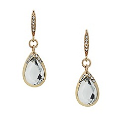 Mood - Crystal stick rose gold teardrop earring