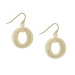 Mood - Polished gold donut drop earring
