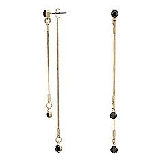 Mood - Statement jet slinky chain double drop earring