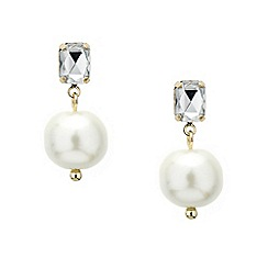 Mood - Crystal top pearl drop earring