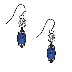Mood - Blue navette stone drop earring