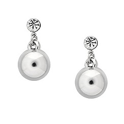 Mood - Crystal top silver ball drop earring