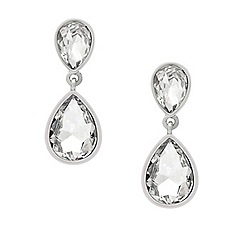Mood - Crystal encased double teardrop earring