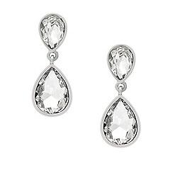 Mood - Crystal encased double teardrop earring