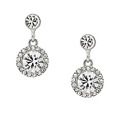 Mood - Round stone crystal surround drop earring