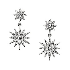 Mood - Crystal embellished star drop earring