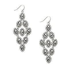 Mood - Hematite navette stone chandelier earring