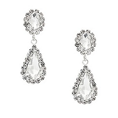 Mood - Diamante crystal surround teardrop earring