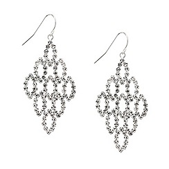 Mood - Diamante crystal navette chandelier earring