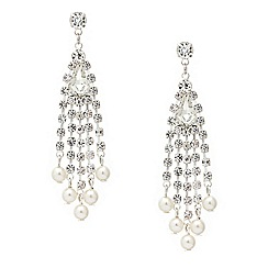 Mood - Diamante crystal pearl drop earring