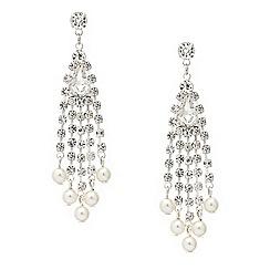 Mood - Diamante crystal pearl drop earring