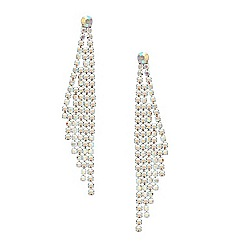 Mood - Aurora borealis crystal wing drop earring