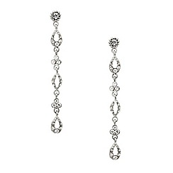 Mood - Long slinky crystal teardrop earring