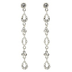Mood - Long diamante crystal slinky drop earring