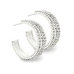 Mood - Diamante crystal triple row hoop earring