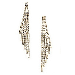 Mood - Diamante crystal wing drop earring