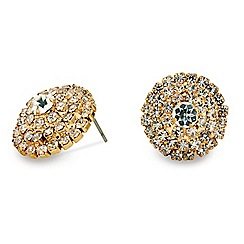 Mood - Diamante surround round gold stud earring