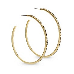 Mood - Large crystal encased gold hoop earring