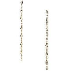 Mood - Long slinky diamante crystal drop earring