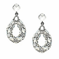 Mood - White opalesque embellished teardrop earring