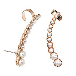 Mood - Set of two graduated pearl ear cuffs