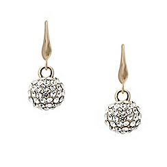 Mood - Rose gold crystal encased ball drop earring