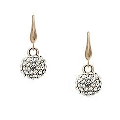 Mood - Rose gold crystal encased ball drop earring