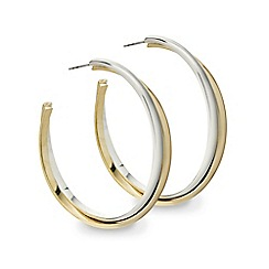 Mood - Two tone twist hoop earring