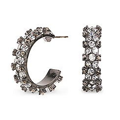 Mood - Crystal embellished mini hoop earring