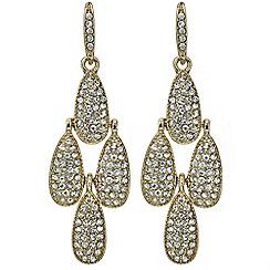 Mood - Crystal embellished gold chandelier earring