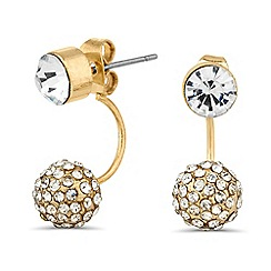 Mood - Embellished crystal ball ear lobe earring