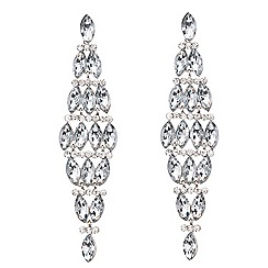 Mood - Crystal navette chandelier earring