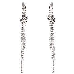 Mood - Diamante crystal twist knot drop earring