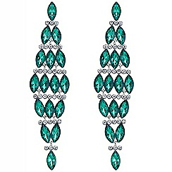 Mood - Green navette stone chandelier earring