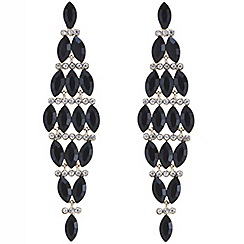 Mood - Black navette stone chandelier earring