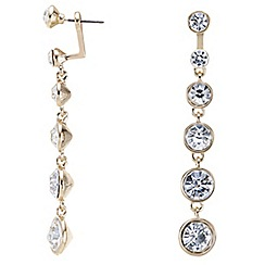 Mood - Graduated round crystal drop earring